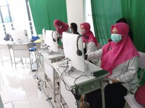 Tim akreditasi Program Studi Tadris Matematika Fakultas Tarbiyah dan Ilmu Keguruan (FTIK) Institut Agama Islam (IAIN) Salatiga pada 11-12 Desember 2020